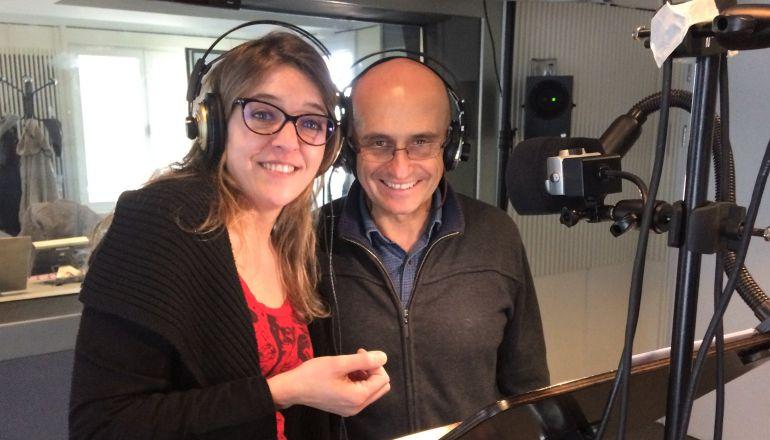 Ana Alonso y Pepe Viyuela, durante la grabación.