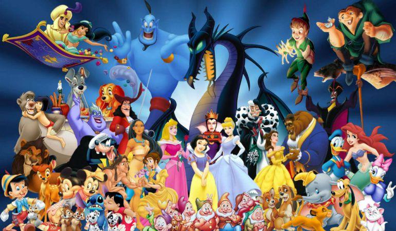 Imagen de gran parte de los personajes de la famosa productora de animación.