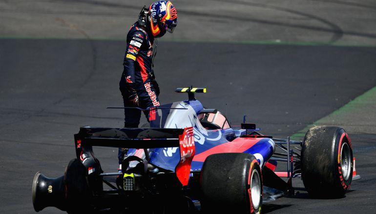 Carlos Sainz, después de quedar fuera de carrera en el Gran Premio de Gran Bretaña