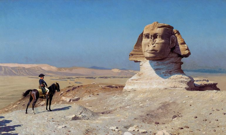 Napoleón la lía en Egipto