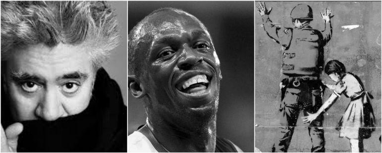 Pedro Almodóvar, Usain Bolt y un mural de Bansky
