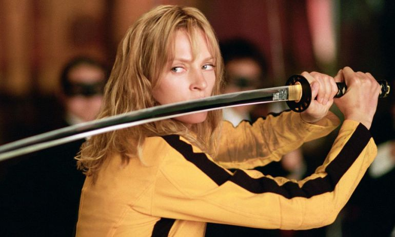 Uma Thurman en una escena de Kill Bill