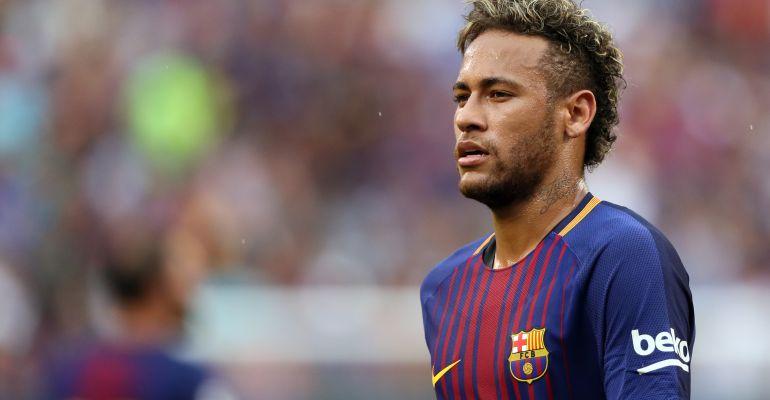 Neymar, durante la pretemporada con el Barcelona