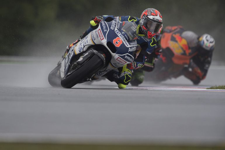 Héctor Barberá en el circuito de Brno.