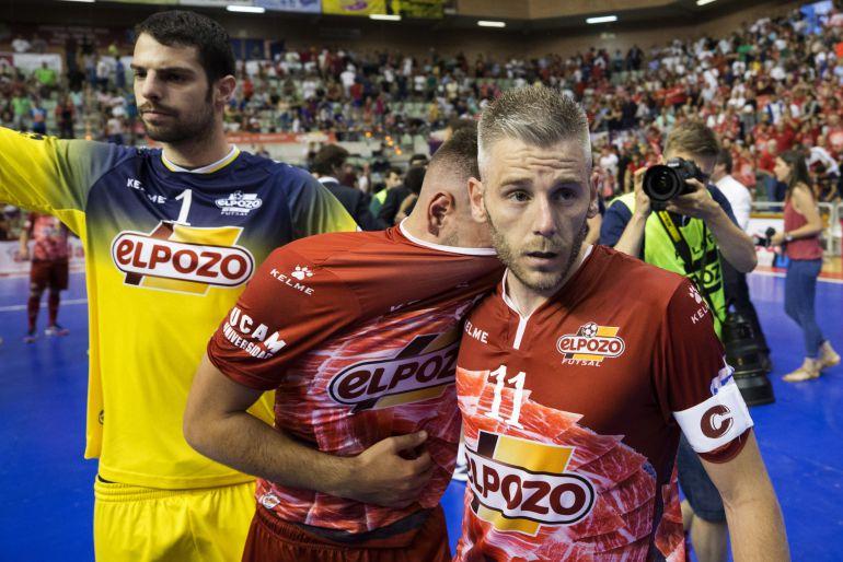 Miguelín durante un partido con ElPozo Murcia