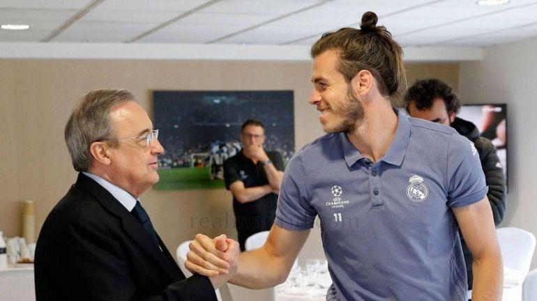 Bale y Florentino en una foto de archivo