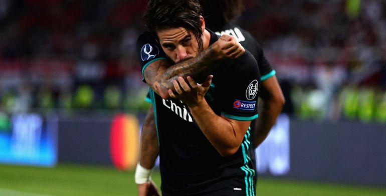 Isco se besa un tatuaje tras marcar al United