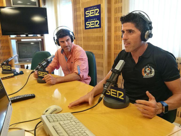 Jorge y Kiko Montoro en los estudios de Cadena SER Málaga.