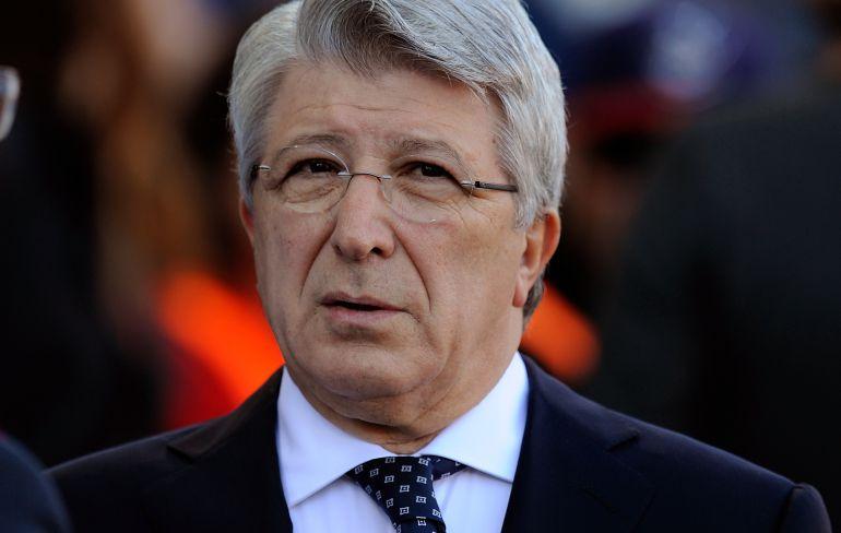 El presidente del Atlético de Madrid Enrique Cerezo.