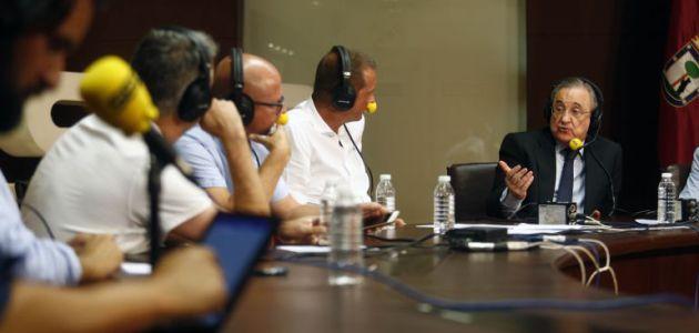 GALERÍA | La entrevista al presidente del Madrid, en imágenes.