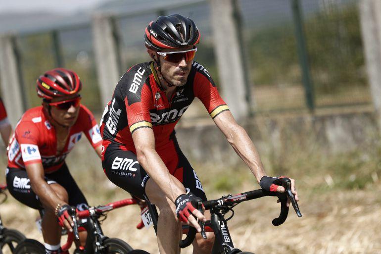 Samuel Sánchez con su equipo BMC Racing Team.