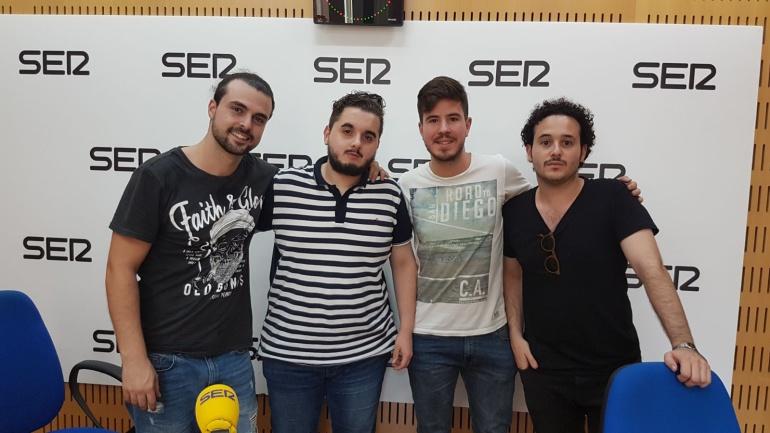 """Nico Pelegrín, David Galván, Pablo Barrionuevo y Joaquín Lopez """"Quini"""""""