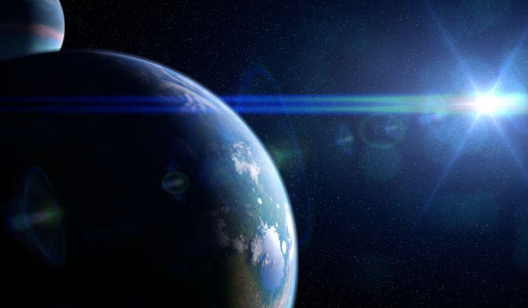 Representación artística del exoplaneta WASP-19b, en cuya atmósfera se ha encontrado óxido metálico por primera vez.