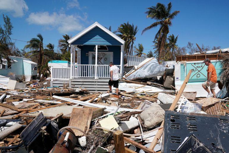 Los destrozos causados por el huracán Irma.