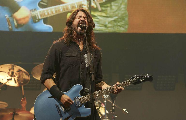 El líder de Foo Fighters, Dave Grohl, durante un concierto en el festival de Berlín.