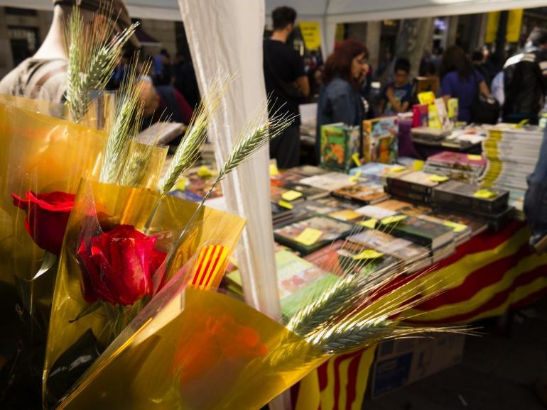Una librería el día de Sant Jordi