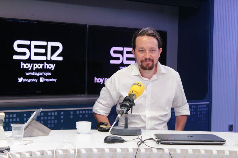 """Pablo Iglesias, en la SER: Iglesias: """"El Gobierno hace que cada día haya más catalanes que se quieran ir"""""""