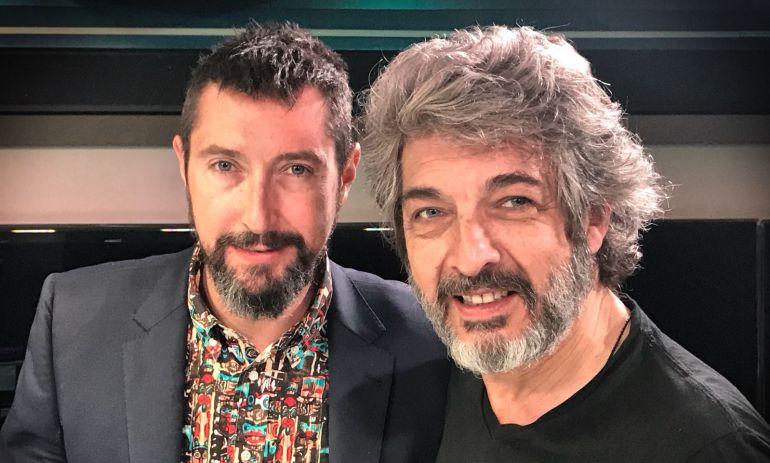 Ricardo Darín y Toni Garrido en los estudios de la SER