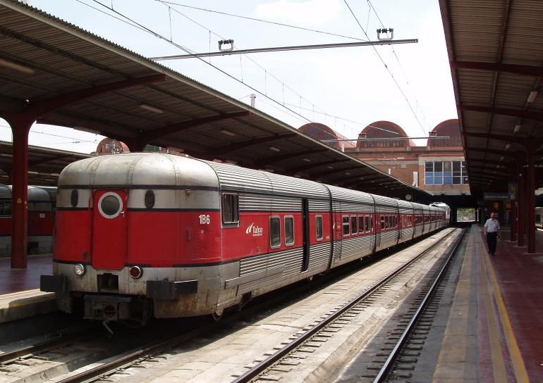 Un tren Talgo en la madrileña estación de Chamartín