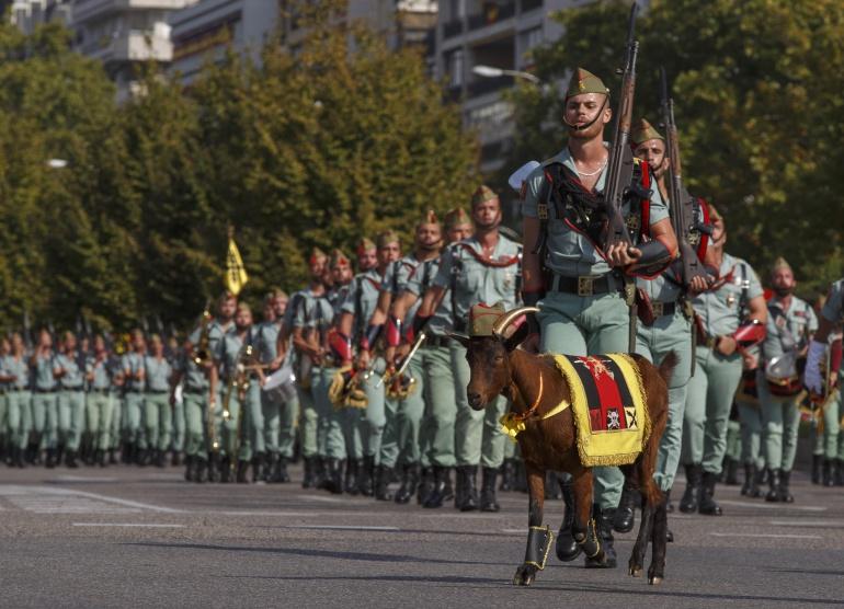 Soldados de la Legión durante el desfile militar del 12 de octubre