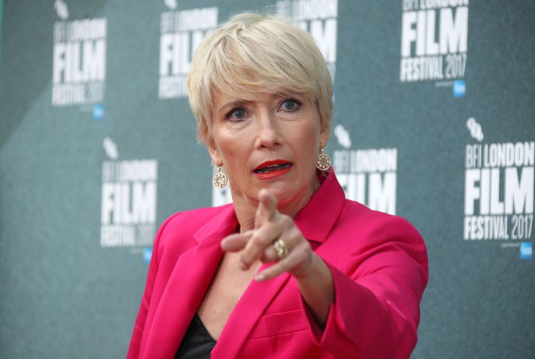La actriz Emma Thompson, durante el estreno de 'The Meyerowitz Stories'