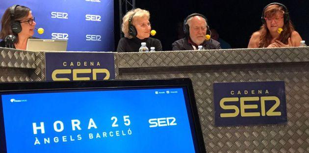 Marisa Paredes, Arturo Ripstein e Isabel Coixet junto a Angels Barceló en el programa especial desde Valladolid