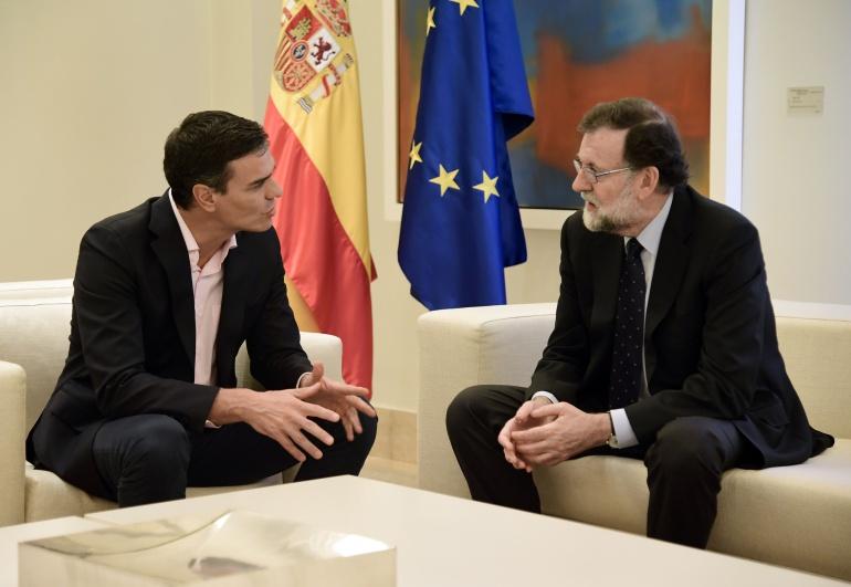 Pedro Sáncez y Mariano Rajoy en una reunión en el Palacio de la Moncloa