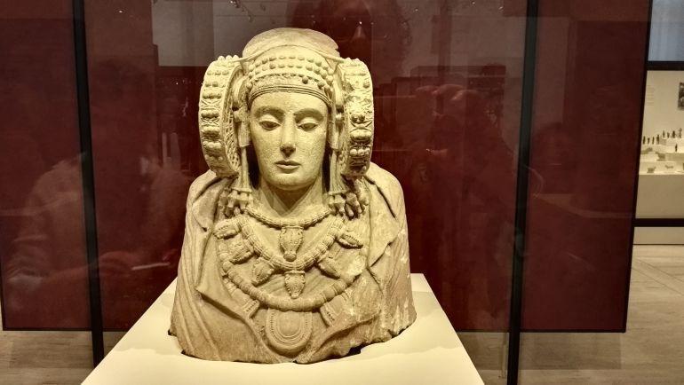 Una imagen de la Dama de Elche en el Museo Arqueológico Nacional