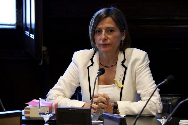 La presidenta del Parlament, Carme Forcadell, el 24 d'octubre de 2017 (horitzontal)