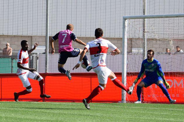 Imagen del partido disputado este domingo entre el San Sebastian de Los Reyes y el CD Toledo