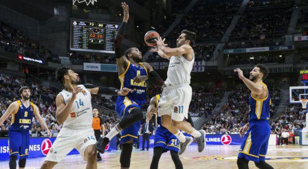 Partido entre el Real Madrid y el Khimki de Euroliga