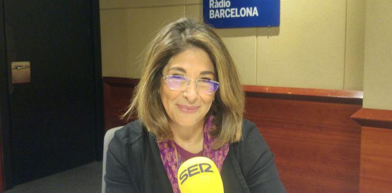 Naomi Klein en los estudios de Radio Barcelona