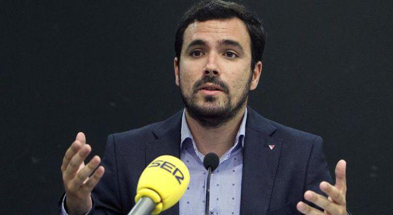 El líder de IU, Alberto Garzón, durante una entrevista.