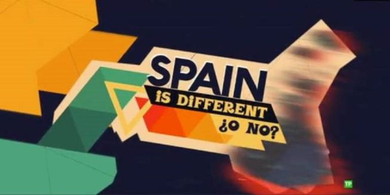 "Fotograma del pograma ""Spain is different ¿o no?"