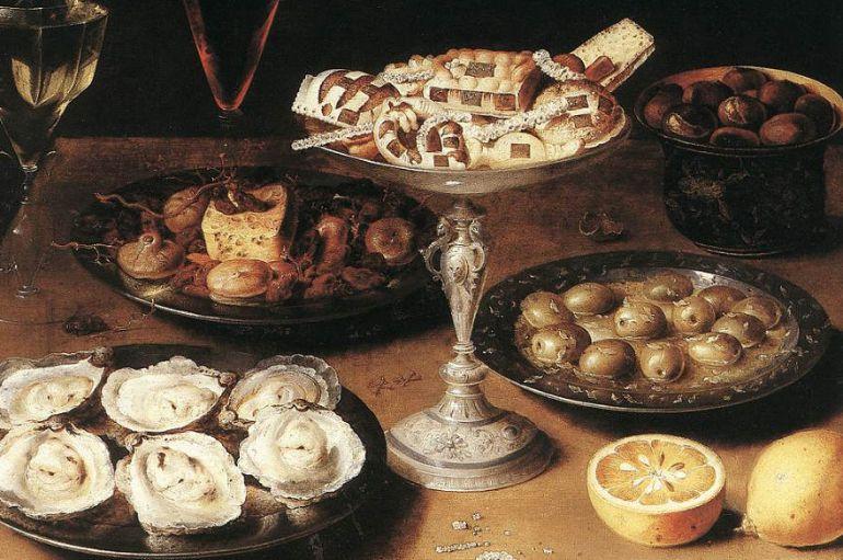 Cuadro con alimentos de Osias Beert.