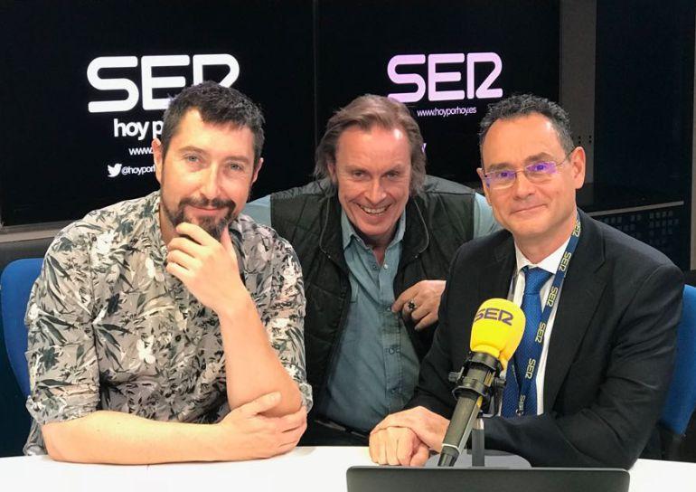 Toni Garrido, Tom Kallene y Pedro Baños
