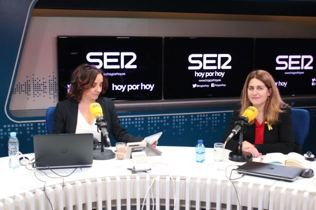 Pepa Bueno y Marta Pascal, momentos antes de comenzar la entrevista.