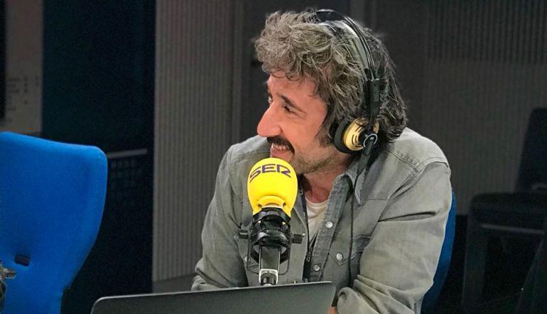 Diego Guerrero en los estudios de la SER