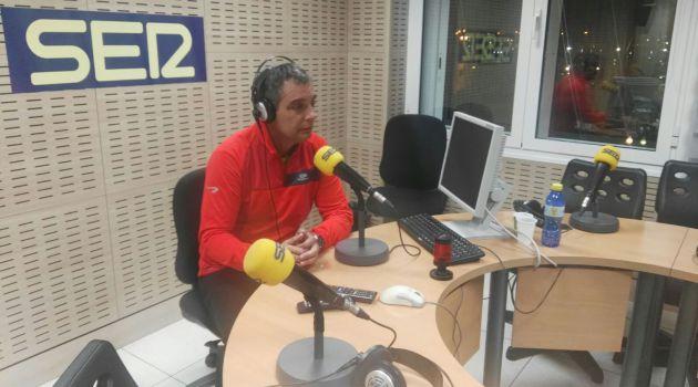 Israel Santana, en los estudios de Cadena SER Las Palmas