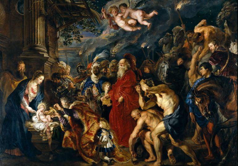 'La adoración de los Reyes Magos' (Rubens).