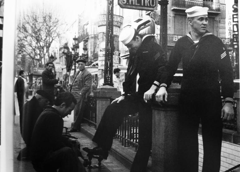 Dos marineros de la Sexta Flota de los EE UU en Barcelona