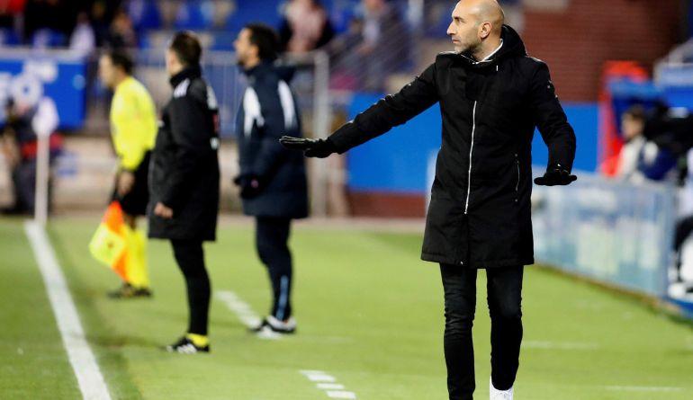 Abelardo, durante el partido de Copa frente al Formentera
