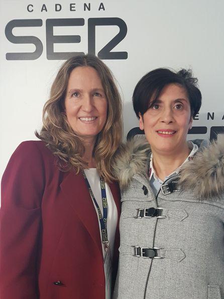 Helena de Carlos y Carmen Estévez, en Radio Madrid