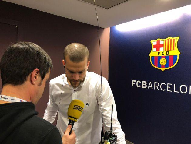 Laguardia atiende a la llamada de Carrusel Deportivo en el Camp Nou