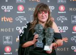 MADRID, SPAIN - FEBRUARY 03: Director Isabel Coixet holds the best adapted screenplay and the best director awards for the film la Libreria during the 32nd edition of the Goya Cinema Awards at Madrid Marriott Auditorium on February 3, 2018 in Madrid, Spain. (Photo by Pablo Cuadra/WireImage)