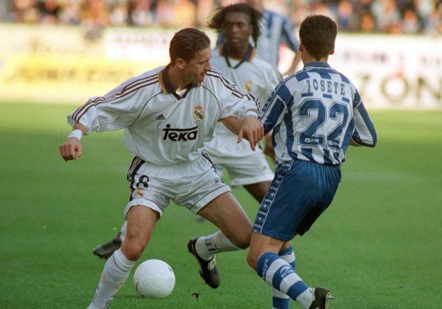 Mijatovic y Seedorf, juntos durante un partido con el Real Madrid