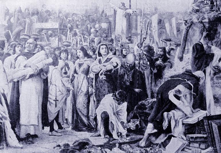 'La hoguera de las vanidades' de Savonarola