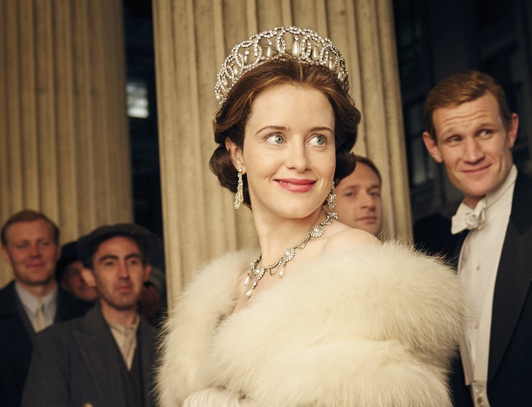 La actriz Claire Foy, como Isabel II, en 'The Crown'