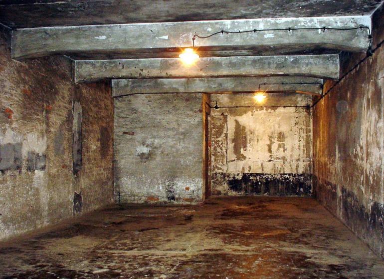 Una de las cámaras de gas del campo de concentración nazi de Auschwitz