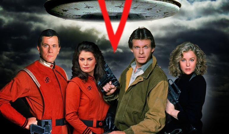 Fotografía promocional de V, la serie.